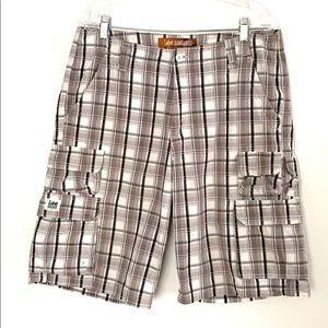 Lee Dungarees plaid cargo shorts